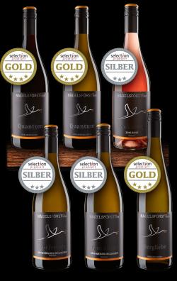 Weingut Nägelsförst - WEINSORTIMENT DES JAHRES 2018, 6 verschiedene Weine. Alle ausgezeichnet! 6 GEWINNER FÜR 54,40 €.